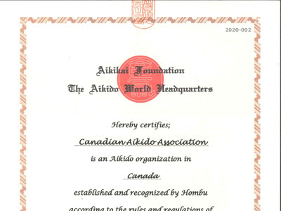 Canada Day 2020 - Hombu Dojo recognition