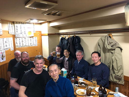 Dinner with Shihans Miyamoto, Katsurada and Namba